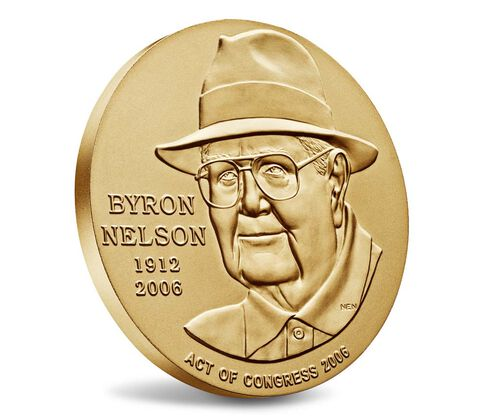 Byron Nelson Bronze Medal 3 Inch,  image 3