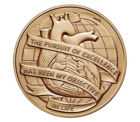 Dr. Michael E. DeBakey, M.D. Bronze Medal 1.5 Inch,  image 2