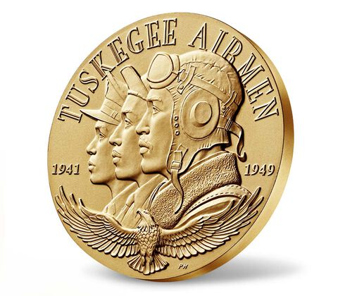 Tuskegee Airmen Bronze Medal 3 Inch,  image 3