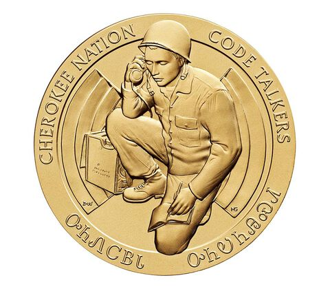 Cherokee Nation Code Talkers Bronze Medal 1.5 Inch