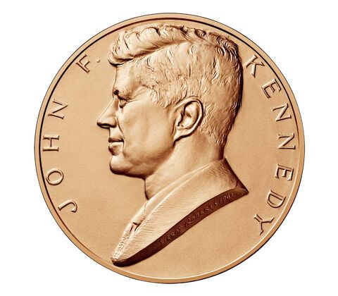 John F. Kennedy Bronze Medal 1 5/16 Inch,  image 1