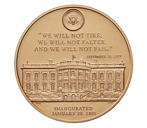 George W. Bush (First Term) Bronze Medal 1 5/16 Inch,  image 2