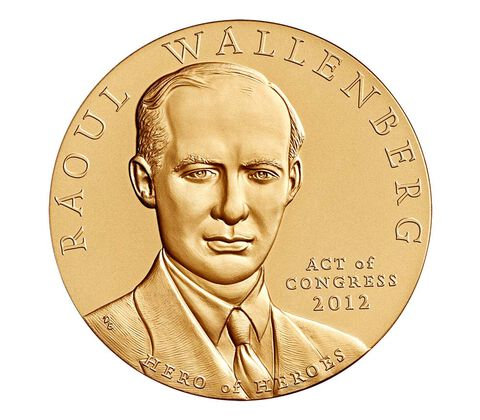 Raoul Wallenberg Bronze Medal 3 Inch