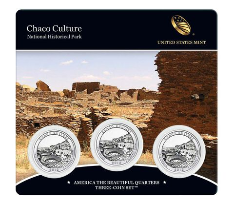 Chaco Culture National Historical Park 2012 Quarter, 3-Coin Set