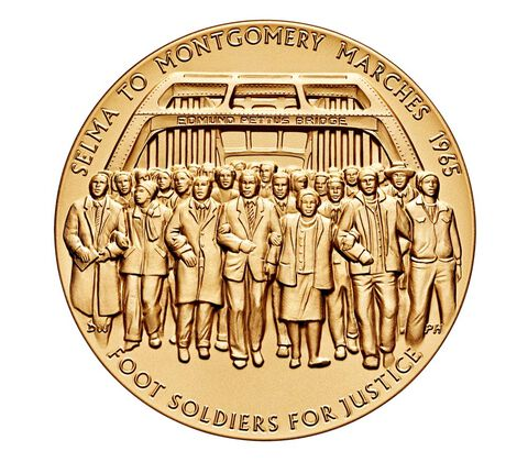 1965 Selma to Montgomery Voting Rights Marches Bronze Medal 3 Inch