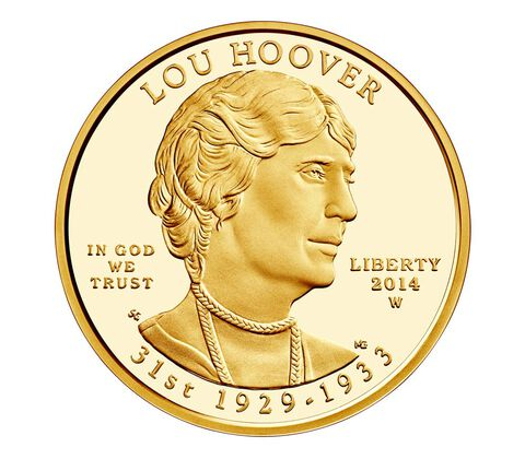Lou Hoover 2014 First Spouse Series One-Half Ounce Gold Proof Coin,  image 1