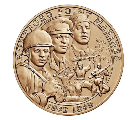 Montford Point Marines Bronze Medal 1.5 Inch,  image 1