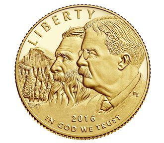 100th Anniversary of the National Park Service 2016 $5 Gold Proof Coin