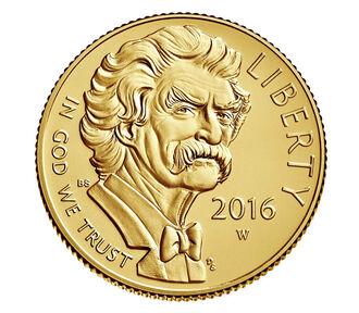 Mark Twain 2016 $5 Gold Uncirculated Coin