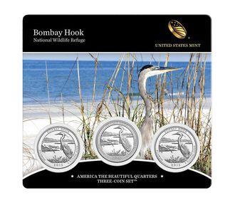 Bombay Hook National Wildlife Refuge 2015 Quarter, 3-Coin Set