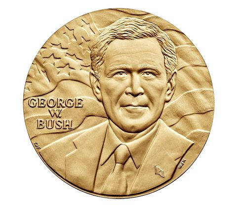 George W. Bush (First Term) Bronze Medal 3 Inch