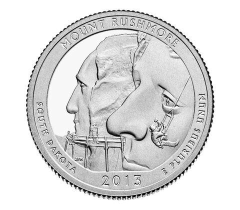 Mount Rushmore National Memorial 2013 Quarter, 3-Coin Set,  image 3