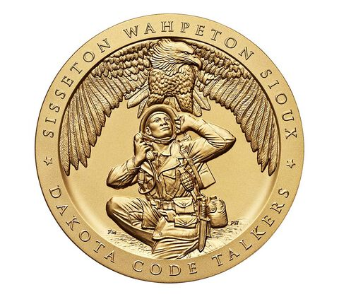 Sisseton Wahpeton Oyate (Sioux) Tribe Code Talkers Bronze Medal 3 Inch