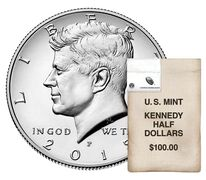 Kennedy 2015 Half Dollar, 200-Coin Bag