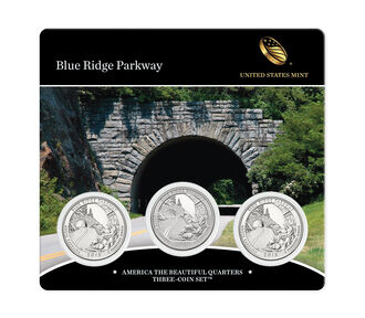 Blue Ridge Parkway 2015 Quarter, 3-Coin Set