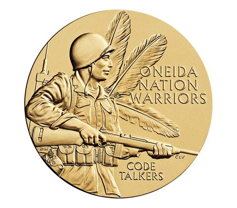 Oneida Nation Code Talkers Bronze Medal 1.5 Inch,  image 1