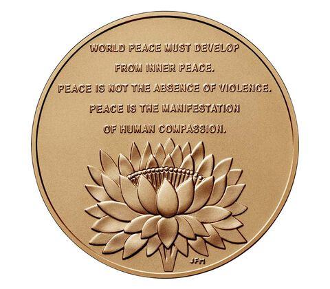Dalai Lama Bronze Medal 1.5 Inch,  image 2