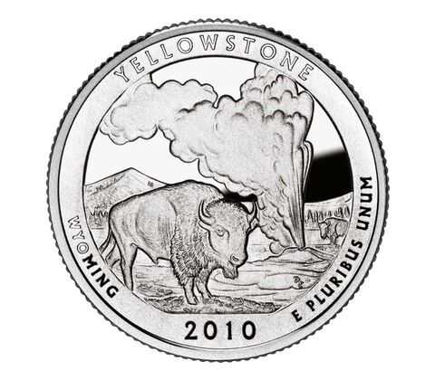 Yellowstone National Park 2010 Quarter, 3-Coin Set,  image 2