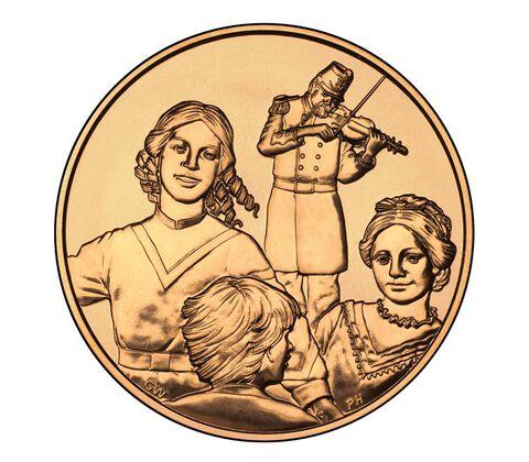 Eliza Johnson 2011 Bronze Medal 1 5/16 Inch,  image 2