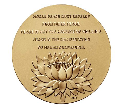 Dalai Lama Bronze Medal 3 Inch,  image 2