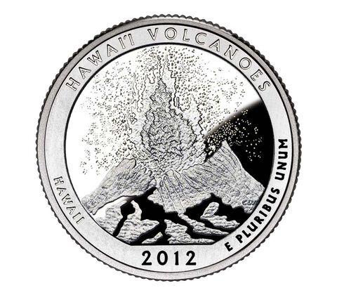 Volcanoes National Park 2012 Quarter, 3-Coin Set,  image 2