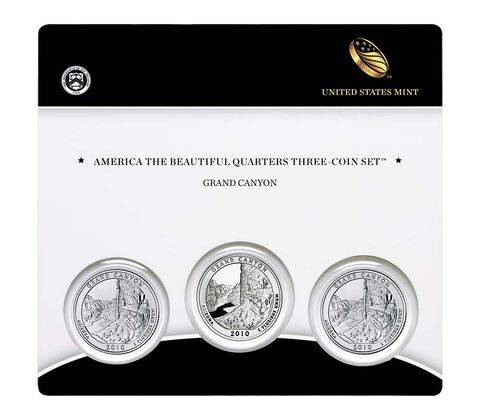 Grand Canyon National Park 2010 Quarter, 3-Coin Set,  image 1