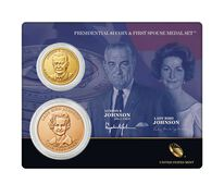 Lyndon B. Johnson 2015 Presidential One Dollar Coin & First Spouse Medal Set