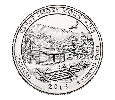 Great Smoky Mountains National Park 2014 Quarters, 3-Coin Set,  image 4