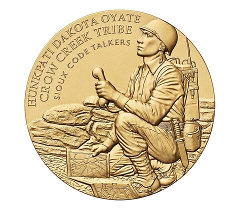 Crow Creek Sioux Tribe Code Talkers Bronze Medal 3 Inch