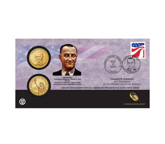 Lyndon B. Johnson 2015 One Dollar Coin Cover
