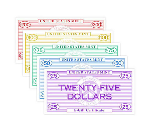 Give an Online Gift Certificate from the U.S. Mint