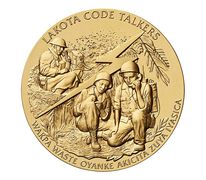 Cheyenne River Sioux Tribe Code Talkers Bronze Medal 3 Inch