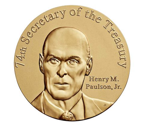 Henry M. Paulson, Jr. Secretary of the Treasury Bronze Medal 3 Inch