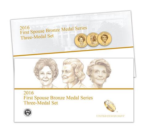 First Spouse Bronze Medal Series Three Medal Set Enrollment