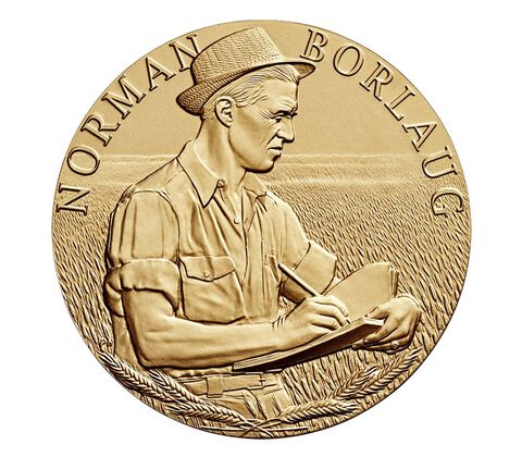 Dr. Norman Borlaug Bronze Medal 3 Inch
