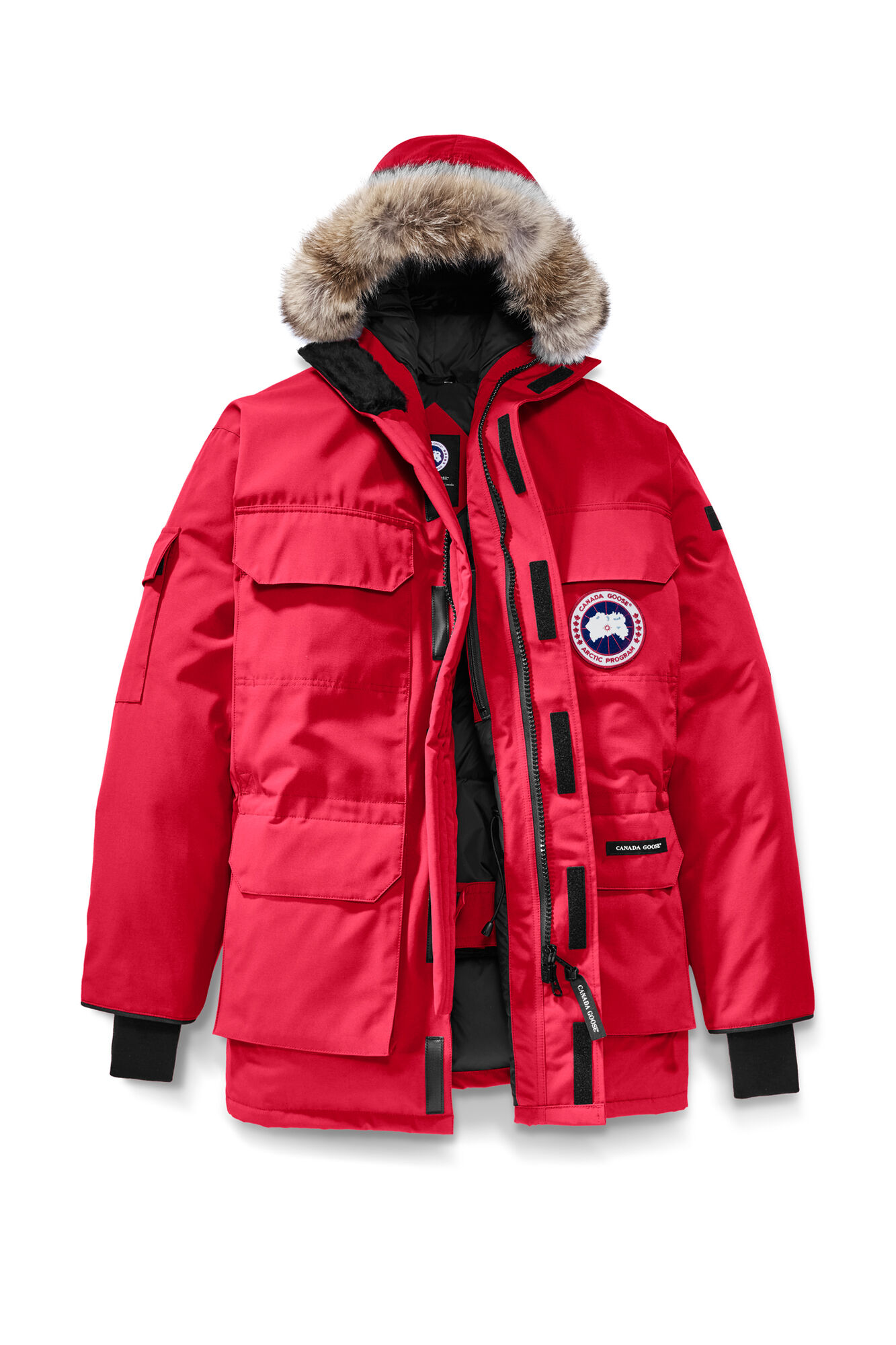 cheap canada goose men's heli arctic parka forest green
