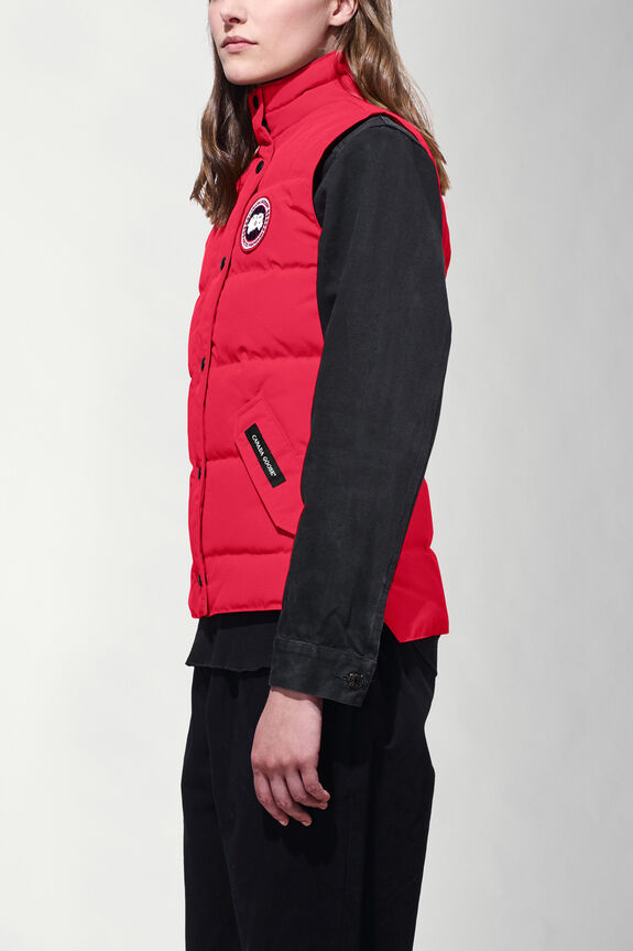 top quality freestyle vest canada goose women red