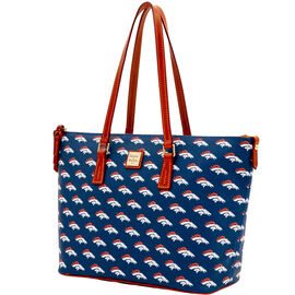 Broncos Zip Top Shopper