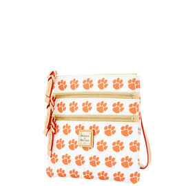 Clemson Triple Zip Crossbody