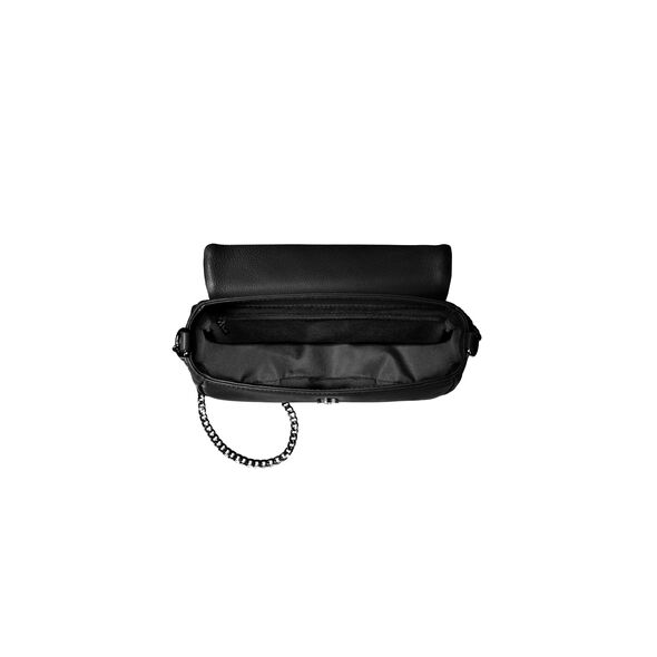 Lipault Plume Elegance Saddle Bag in the color Black Leather.