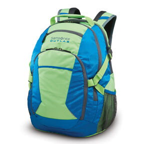 Samsonite Outlab Grouper Backpack in the color Electric Blue/Green Gecko.