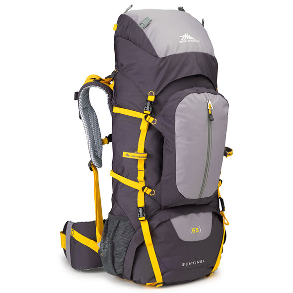 High Sierra Classic 2 Series Sentinel 65 Frame Pack in the color Mercury/Ash/Yellow.