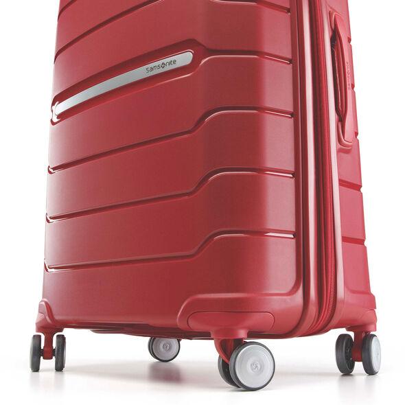"Samsonite Freeform 21"" Spinner in the color Red."