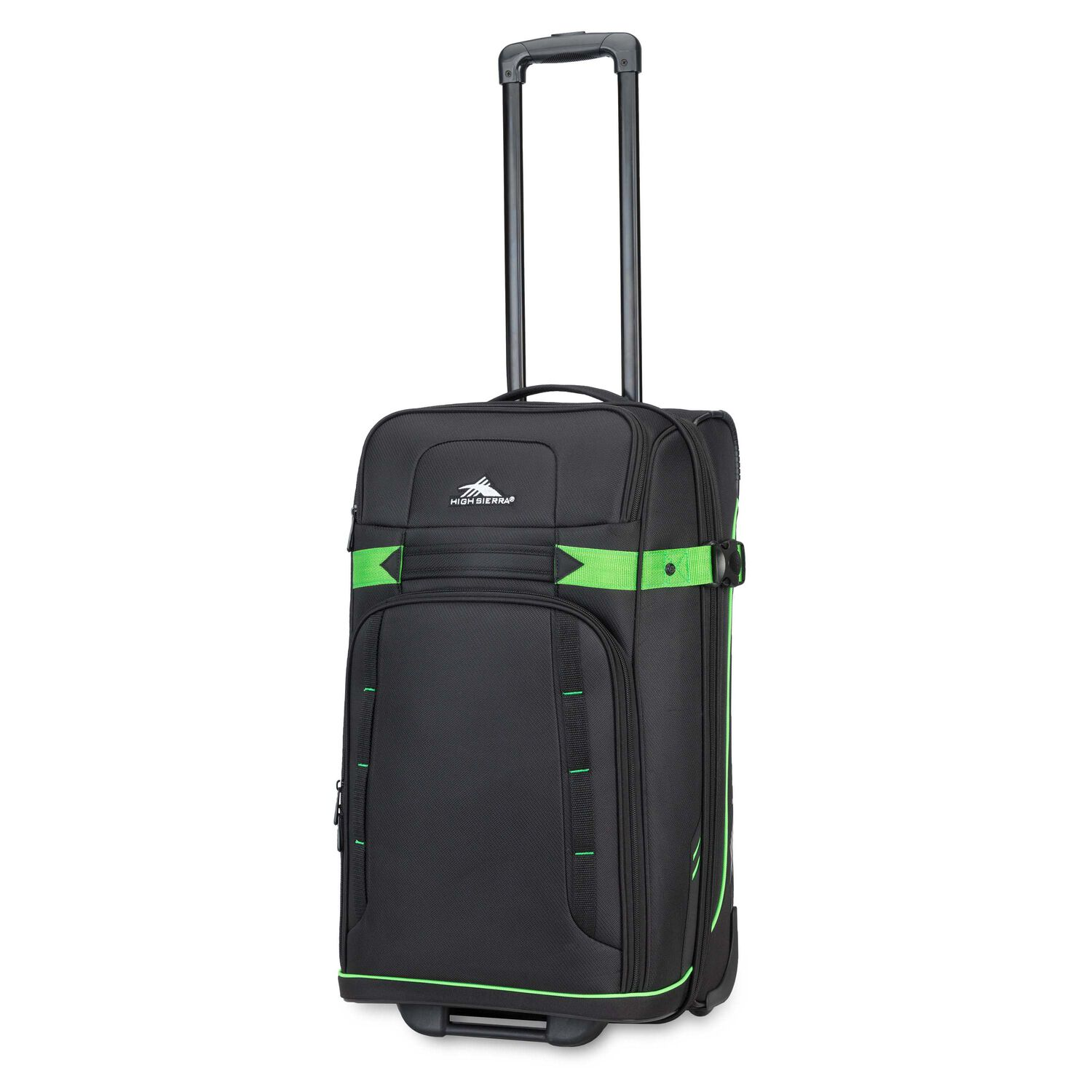 """High Sierra Evanston 25"""" Upright in the color Black/Lime Green."""