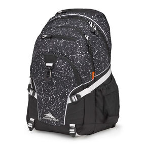 High Sierra Loop Backpack in the color Speckle/Black/White.