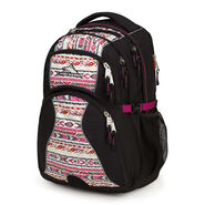 High Sierra Swerve Backpack in the color Black/Macrame/Razzmatazz.