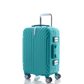 "Samsonite Tru-Frame Collection 20"" Spinner in the color Aqua Blue."