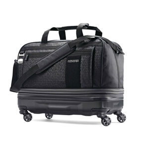 American Tourister Pearce Hybrid Wheeled Duffel in the color Black Print.