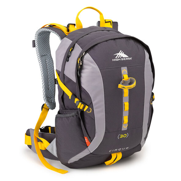 High Sierra Classic 2 Series Cirque 30 Frame Pack in the color Mercury/Ash/Yellow.