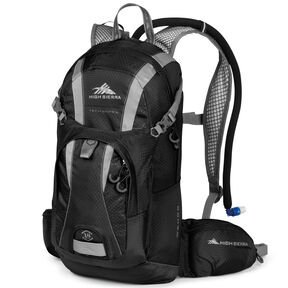 High Sierra Wahoo 14L Hydration Pack in the color Black/Silver.